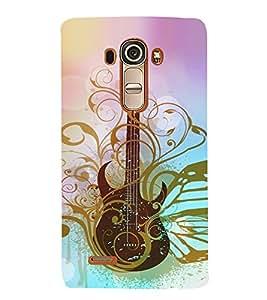 Artistic Vintage Guitar 3D Hard Polycarbonate Designer Back Case Cover for LG G4 :: LG G4 H815