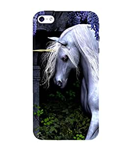 99Sublimation White Unicorn 3D Hard Polycarbonate Back Case Cover for Apple iPhone 5