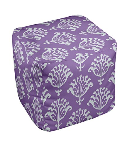 E by design FG-N16C-Heather_Purple-13 Geometric Pouf