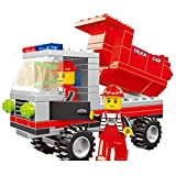 City Buildings 100 Pcs 3 In 1 Set Of Steam Roller Building Blocks; Dumper And Bulldozer With 2 Uniformed Crew...