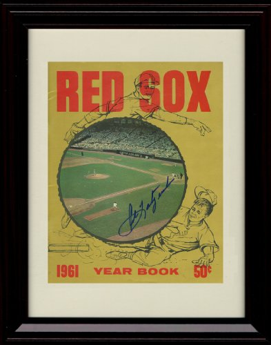 Framed Carl Yastrzemski Autograph Print - 1961 Boston Red Sox Yearbook at Amazon.com