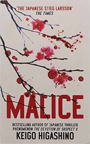 A Hot Cup Of Pleasure Initial Impressions Malice By Keigo Higashino