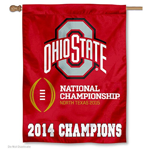 OSU Buckeyes 2014 National Champions House Flag Banner (Osu Buckeyes National Champions compare prices)
