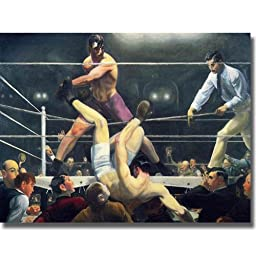 Dempsey and Firpo by George Bellows Premium Stretched Canvas (Ready to Hang)