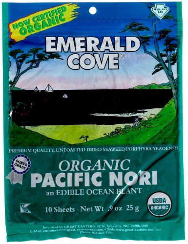 Emerald Cove Organic Nori Sheets 0 9 Ounce Package Pack of 6