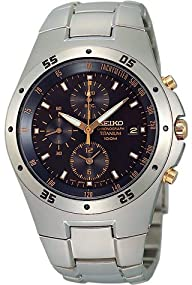 Seiko #SND451 Men's Titanium Chronograph Watch