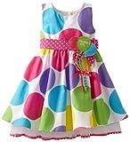 Bonnie Jean Little Girls' Dot Trapeze Dress, Multi, 4T