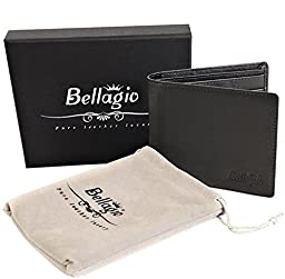 RFID Blocking Leather Wallet For Men in Gift Box - Bifold Mens Wallet - Gifts for Him, Black or Brown