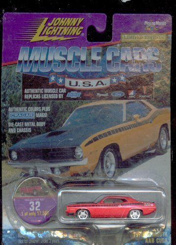 Johnny Lightning 1999-32 Muscle Cars Usa 1970 Plymouth Aar Cuda 1 of Only 17,500 1:64 Scale - 1
