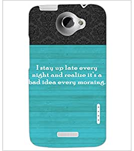 PrintDhaba Quote D-3725 Back Case Cover for HTC ONE X (Multi-Coloured)