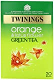 Twinings Green Tea with Orange and Lotus Flower 20 Teabags (Pack of 8,Total 160 Teabags)