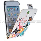 MOONCASE Funda Carcasa Cuero Tapa Case Cover Para Apple iPod Touch 5 5G