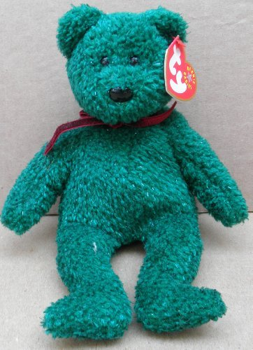 1 X TY Beanie Babies 2001 Holiday Teddy Bear Plush Toy Stuffed Animal