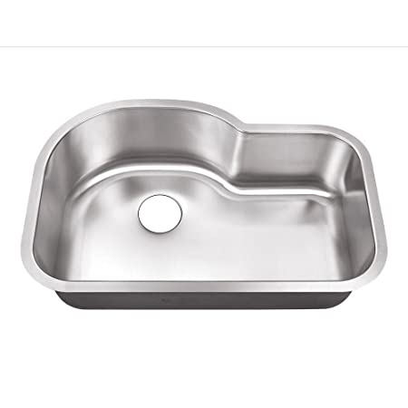 Belle Foret BFSB3121 Undermount 0-Hole Single Bowl Kitchen Sink, Stainless Steel, 31-1/2-Inch x 21-1/8-Inch x 9 -Inch