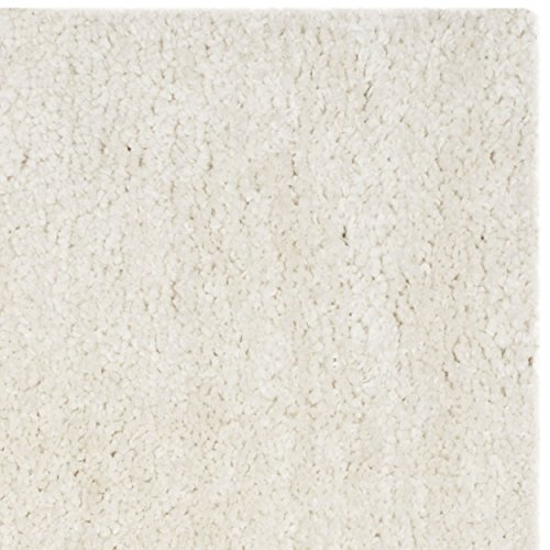 Safavieh Popcorn Shag Collection SG267A Handmade Ivory Polyester Square Area Rug, 6 feet Square (6' Square)