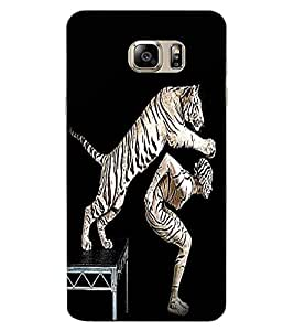 ColourCraft Man and Tiger Design Back Case Cover for SAMSUNG GALAXY NOTE 6