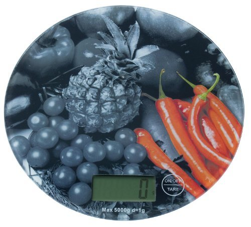 Balance de cuisine numérique balance pèse-lettres balance de précision 1 g/5000, Motiv: rote Pepperonie