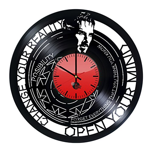[Doctor Strange Vinyl Record Wall Clock - Get unique kids room wall decor - Gift ideas for children, friends, boys and girls- Marvel Unique Art Design - Leave us a feedback and win your custom] (Dr Strange Modern Costume)