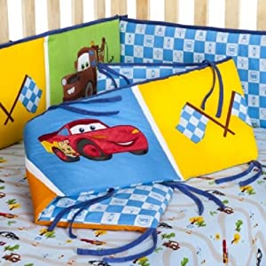 Amazon Com Disney Cars Junior Junction Crib Bumper