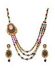 Shahenaz Jewellers 24 Ct Gold Plated Bridal Jewellery Set For Women - B00R2IO306