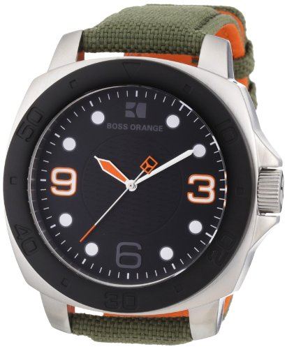 BOSS ORANGE Green Fabric Mens Watch 1512668