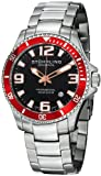 Stuhrling Original Mens 395.33TT11 Aquadiver Regatta Champion Professional Diver Swiss Quartz Date Red Bezel Watch