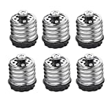 AWE-LIGHT 6-Pack Light Bulb Socket Adapter Converter E39/E40 to E27/E26, Adapter to Plug an E26/E27 Bulb Into E39/E40 for Antique Floor Lamp Mogul Socket Light Fixture, Max Watt 600W