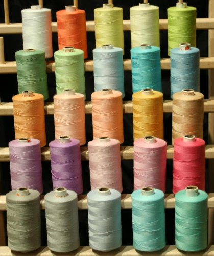 New Threadsrus 25 Large Spools of 3-PLY Polyester threads - Assorted Pastel Colors