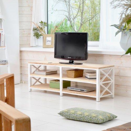 Meuble tv banc blanc pas cher for Banc tv blanc pas cher