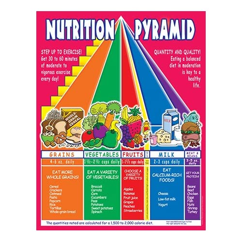 NUTRITION PYRAMID FRIENDLY CHART:Amazon:Home & Kitchen