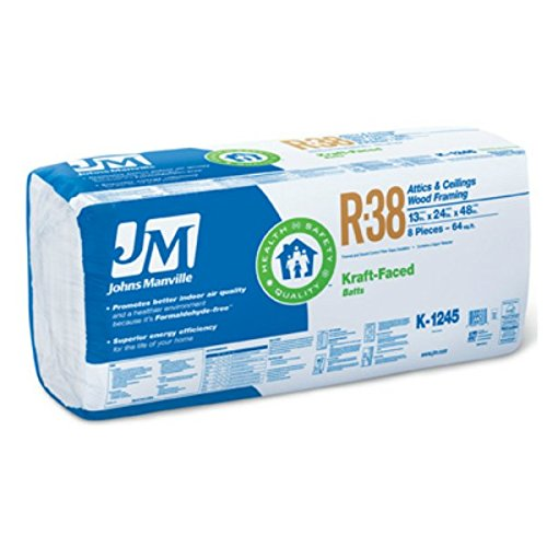 JOHNS MANVILLE INTL 90009580 R38 24x48 Kraft Batts (Insulation R38 compare prices)