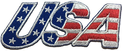 USA American Alphabet Flag Patch Sew Iron on Applique Embroidered Emblem Badge Patch By Ranger Return (IRON-USA-ALPHABET) (Velcro British Tan compare prices)