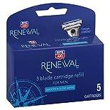 Rite Aid Renewal Cartridge Refills, 3 Blade, for Men, 5 cartridges
