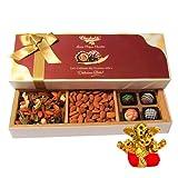 Chocholik Rich Chocolates & Dry Fruits Gift Box With Small Ganesha Idol - Chocholik Belgium Chocolates