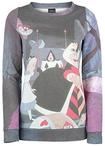 Walt Disney Alice in Wonderland - Garden Felpa donna stampa allover M