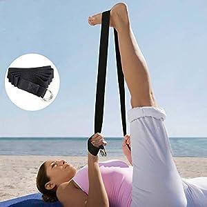 ZeroShop(TM) Yogagurt mit Metallverschluss, 175 x 3,8 cm, 100% Baumwolle Yoga-Belt Gurt, Schwarz