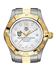 University of Chicago Women's TAG Two-Tone Aquaracer Watch with Diamonds