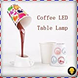 Unique Novelty Inverted Coffee Cup Shape LED Table Lamp