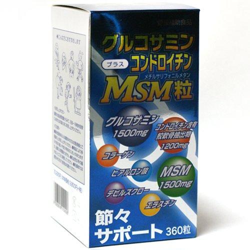 グルコサミン+コンドロチンMSM粒 360粒