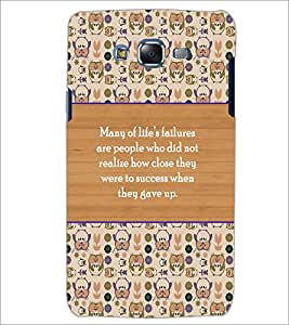 PrintDhaba Quote D-5723 Back Case Cover for SAMSUNG GALAXY J5 (Multi-Coloured)