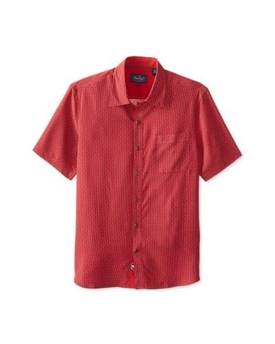 Nat Nast Men's Prague Short Sleeve Silk Poplin Shirt