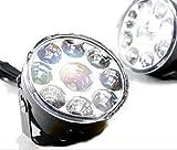 LED ランプ 2個 セット 9連 汎用 フォグ ライト デイライト ワークライト 広角