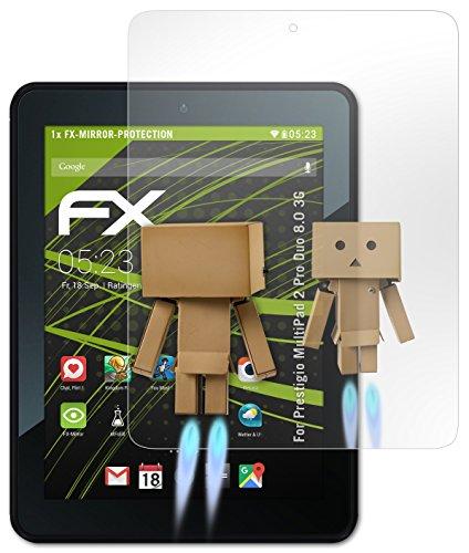 atFoliX Displayschutz Prestigio MultiPad 2 Pro Duo 8.0 3G Spiegelfolie - FX-Mirror mit spiegeleffekt