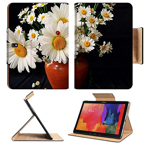 Daisies Flowers Bouquet Vase Ladybug Summer Samsung Note Pro 12.2 Flip Case Stand Smart Magnetic Cover Open Ports Customized Made To Order Support Ready Premium Deluxe Pu Leather Liil Professional Graphic Background Covers Designed Model Folio Sleeve Hd T front-952349