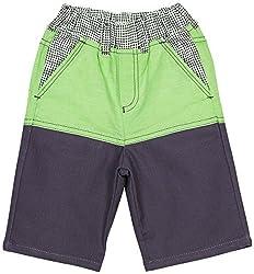 Oye Boys Knee Length Shorts - Blue/Green (4-5 Y)