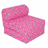 "Children's Studio Chair Sleeper  Jr. Twin 24"", Pink Flower"