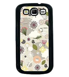 Printvisa Ultra Grey White Flower Pattern 2D Hard Polycarbonate Designer Back Case Cover for ...