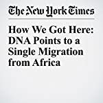 How We Got Here: DNA Points to a Single Migration from Africa | Carl Zimmer