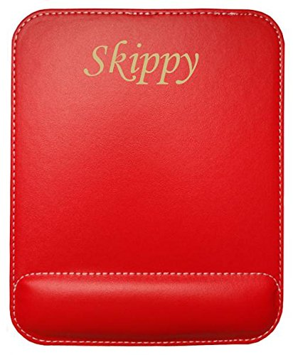 personalized-leatherette-mouse-pad-with-text-skippy-first-name-surname-nickname