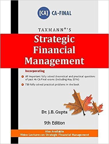 Strategic Financial Management (CA-Final) (9th Edition,June 2016) Paperback – 2016